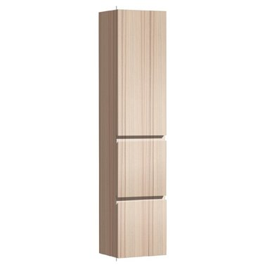 Badkamerkast kolomkast 155x36cm houtkleur licht eiken - Brugge BU1550B StoneArt