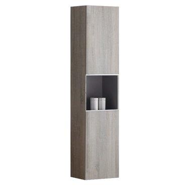 Badkamerkast kolomkast 155x36cm houtkleur licht eiken - Milano ME1550B StoneArt