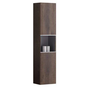 Badkamerkast kolomkast 155x36cm houtkleur donker eiken - Milano ME1550B StoneArt