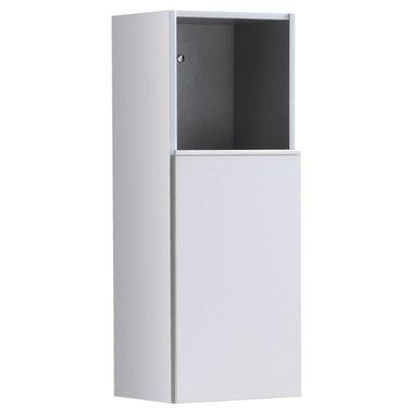 Badkamerkast kolomkast 90x36cm hoogglans wit - Milano ME900B StoneArt