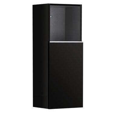 Badkamerkast kolomkast 90x36cm hoogglans zwart - Milano ME900B StoneArt