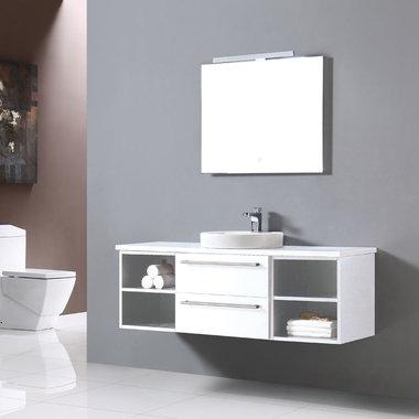 Badkamermeubelset met waskom EAGO Neapel NA-1400 wit 140x47
