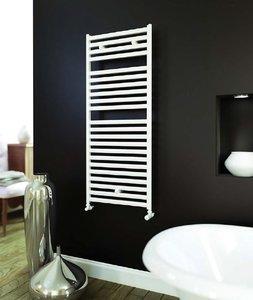 Design Radiator badkamer handdoekradiator Aluminium Wit - Aeon Banio
