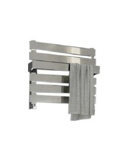 Kleine design handdoekradiator RVS Chroom 390x500mm 280 watt - Eastbrook Ascona