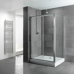 Douchedeur schuifdeur 6mm gehard easy clean glas 170x185cm - Volente Eastbrook