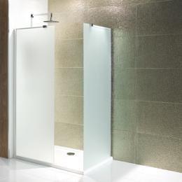 Volente walk-in douchewand van 6mm gehard easy clean melkglas 1200mm