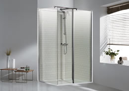 Vantage Flipper walk-in voorpaneel van 6mm easy clean glas 600mm inclusief flipper van 300mm