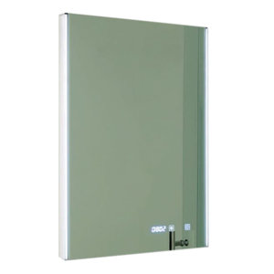 Spiegel LED verlichting, aan/uit touch sensor, verwarming en digitale klok 700x500mm - Eastbrook