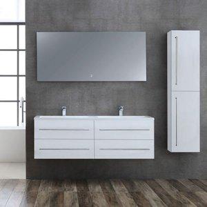 Badkamermeubelset wit 150cm breed incl. spiegel - San Marino SA-1500 StoneArt