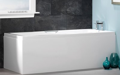 ligbad badkuip inbouw enkelzijdig dubbele handgrepen wit 1500x700mm - Quantum Eastbrook