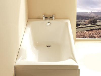 Ligbad badkuip inbouw enkelzijdig wit 1675x70cm - Delta Eastbrook