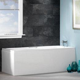 Inbouwbad ligbad kleine badkuip ECO acryl bad wit 170x70cm - Quantum Eastbrook
