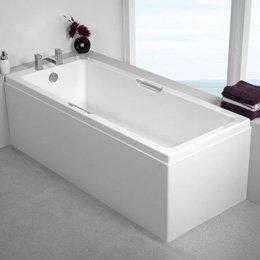 ligbad badkuip inbouw enkelzijdig dubbele handgrepen wit 1700x800mm - Quantum Eastbrook