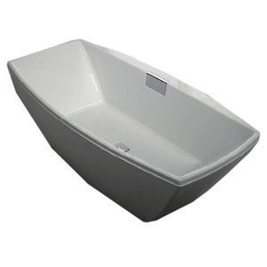 Vrijstaand ligbad badkuip dubbelzijdig met geïntegreerde kraan wit 1900x950mm - Celsius Eastbrook
