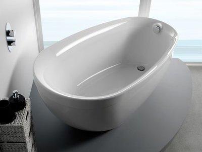 Vrijstaand ligbad badkuip enkelzijdig met geïntegreerde kraan wit 1550x850mm - Paradigm Eastbrook