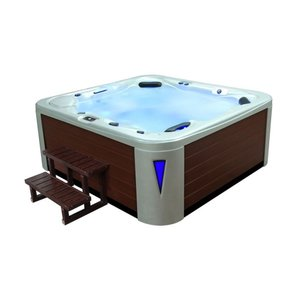 Eago AWT Whirlpool SPA IN-593 Premium White Pearlescent 235x225 Bruin