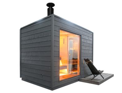 KUUT Sauna Basic L met Houtkachel   219x325 CM